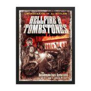 Undertaker & AJ Styles Hellfire & Tombstones 18 x 24 Framed Giclée Poster