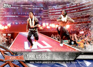 2017 WWE Road to WrestleMania Trading Cards (Topps) The Usos 55