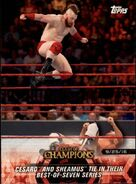 2018 WWE Road to WrestleMania Trading Cards (Topps) Cesaro & Sheamus 2