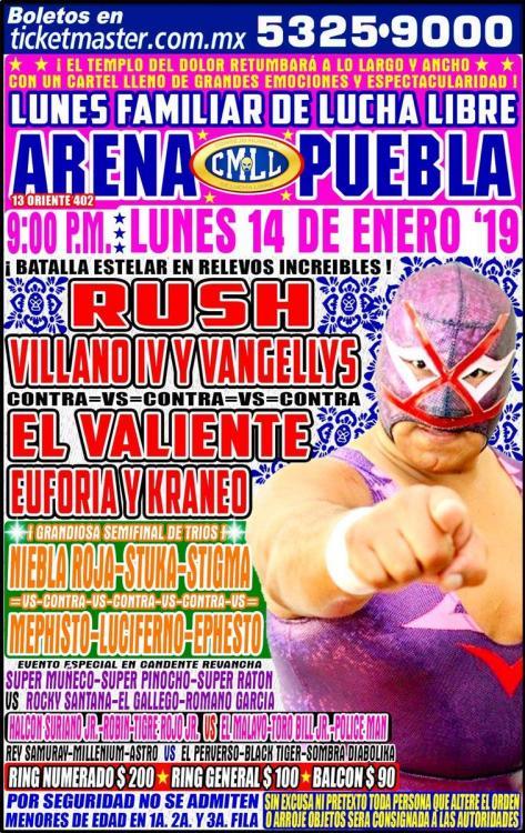 CMLL Lunes Arena Puebla (January 14, 2019)