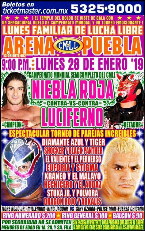 CMLL Lunes Arena Puebla (January 28, 2019)