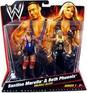 WWE Battle Packs 1 Santino Marella & Beth Phoenix