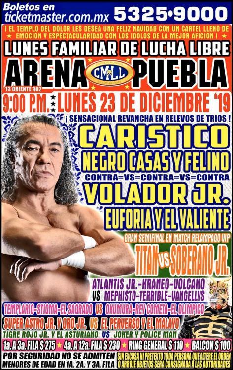 CMLL Lunes Arena Puebla (December 23, 2019)
