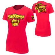 Hulk Hogan hulkamania comes home women's t shirt