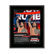 The Usos Royal Rumble 2018 10 x 13 Commemorative Photo Plaque