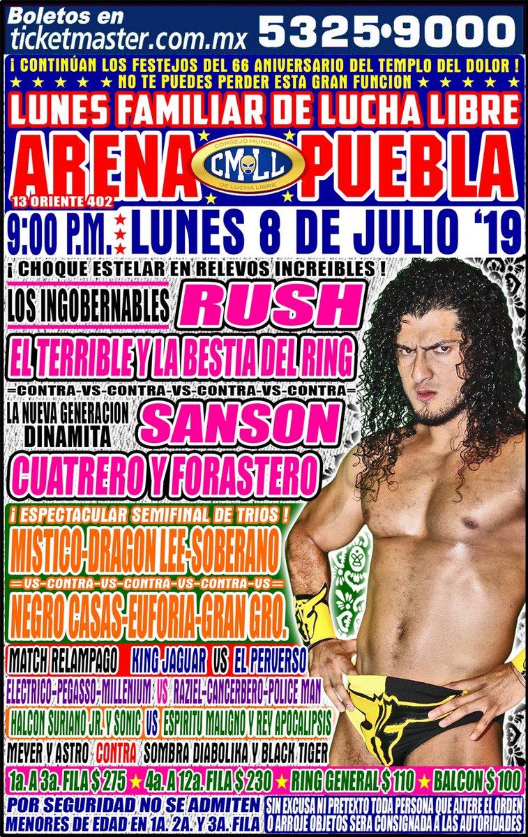 CMLL Lunes Arena Puebla (July 8, 2019)