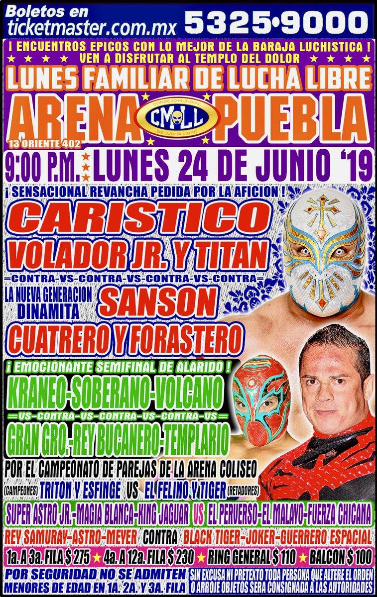 CMLL Lunes Arena Puebla (June 24, 2019)