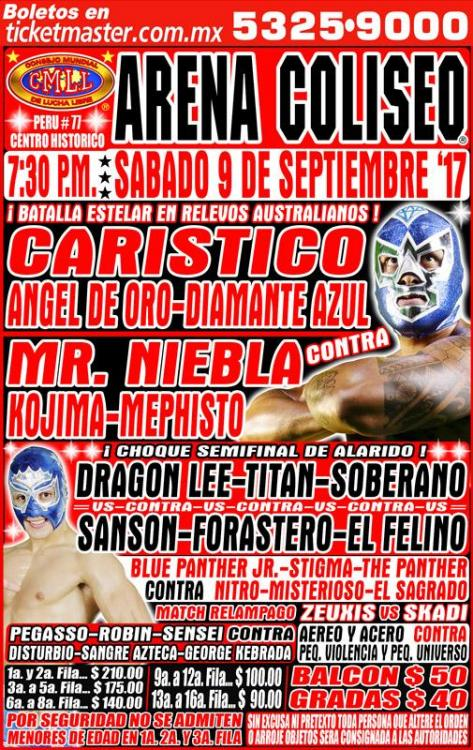 CMLL Sabados De Coliseo (September 9, 2017)