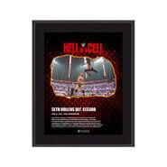 Seth Rollins Hell in A Cell 2021 10 x 13 Commemorative Plaque