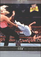 2001 WWF The Ultimate Diva Collection (Fleer) Lita 77
