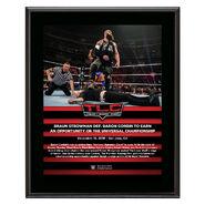 Braun Strowman TLC 2018 10 x 13 Commemorative Plaque