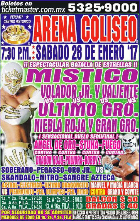 CMLL Sabados De Coliseo (January 28, 2017)