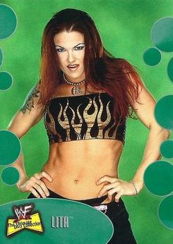 2001 WWF The Ultimate Diva Collection (Fleer) Lita (No.12)