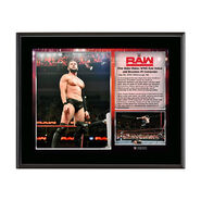 Finn Bálor Raw Debut 2016 10 x 13 Commemorative Photo Plaque