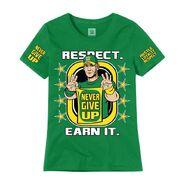 John Cena Earn The Day Women's Authentic T-Shirt