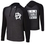 Dean Ambrose Unstable Lightweight Raglan Full-Zip Hoodie Sweatshirt