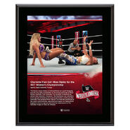 WrestleMania 36 Charlotte Flair 10 x 13 Limited Edition Plaque