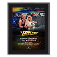 Carmella & Natalya FastLane 2018 10 x 13 Photo Plaque
