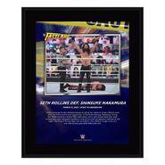 Seth Rollins Fastlane 2021 10 x 13 Commemorative Plaque