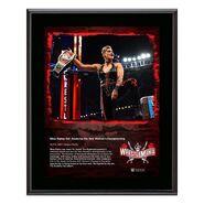 Rhea Ripley WrestleMania 37 10x13 Commemorative Plaque