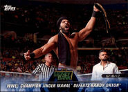 2018 WWE Road to Wrestlemania Trading Cards (Topps) Jinder Mahal 91