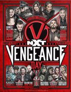 NXT Vengeance Day 16x20 Fight Card Poster