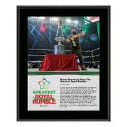 Braun Strowman Greatest Royal Rumble 2018 10 x 13 Photo Plaque