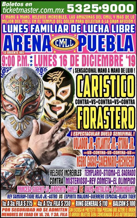 CMLL Lunes Arena Puebla (December 16, 2019)