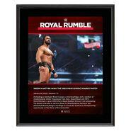 Drew McIntyre Royal Rumble 2020 10x13 Commemorative Plaque