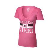 Nikki Bella Fearless Pink Tri-Blend Women's V-Neck T-Shirt