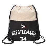 WrestleMania 34 Canvas Drawstring Bag