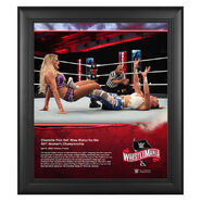 WrestleMania 36 Charlotte Flair 15 x 17 Limited Edition Plaque