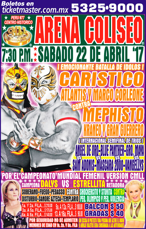 CMLL Sabados De Coliseo (April 22, 2017)