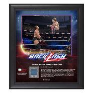 Daniel Bryan BackLash 2018 15 x 17 Framed Plaque w Ring Canvas