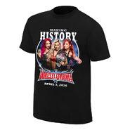 WrestleMania 32 Sasha Banks vs. Becky Lynch vs. Charlotte T-Shirt