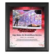 Edge Elimination Chamber 2021 15x17 Commemorative Plaque