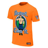 John Cena Respect. Earn It. Orange Authentic T-Shirt