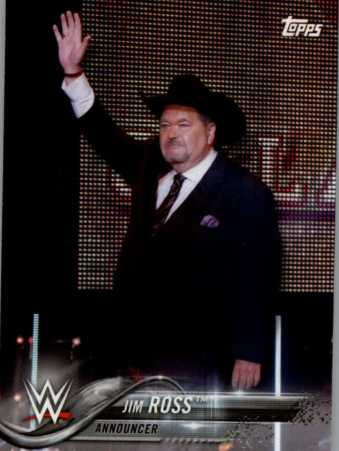 2018 WWE Wrestling Cards (Topps) Jim Ross (No.40)