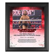 Drew McIntyre Elimination Chamber 2021 15x17 Commemorative Plaque