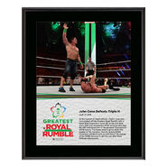 John Cena & Triple H Greatest Royal Rumble 2018 10 x 13 Photo Plaque