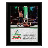 John Cena & Triple H Greatest Royal Rumble 2018 10 x 13 Photo Plaque