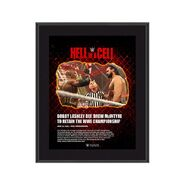 Bobby Lashley Hell in A Cell 2021 10 x 13 Commemorative Plaque