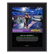 Braun Strowman WrestleMania 34 10 x 13 Photo Plaque