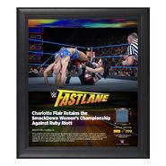 Charlotte FastLane 2018 15 x 17 Framed Plaque w Ring Canvas