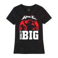 Wale X WrestleMania 37 Doing it Big Women's Black & Red T-Shirt