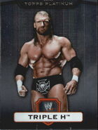 2010 WWE Platinum Trading Cards Triple H 55