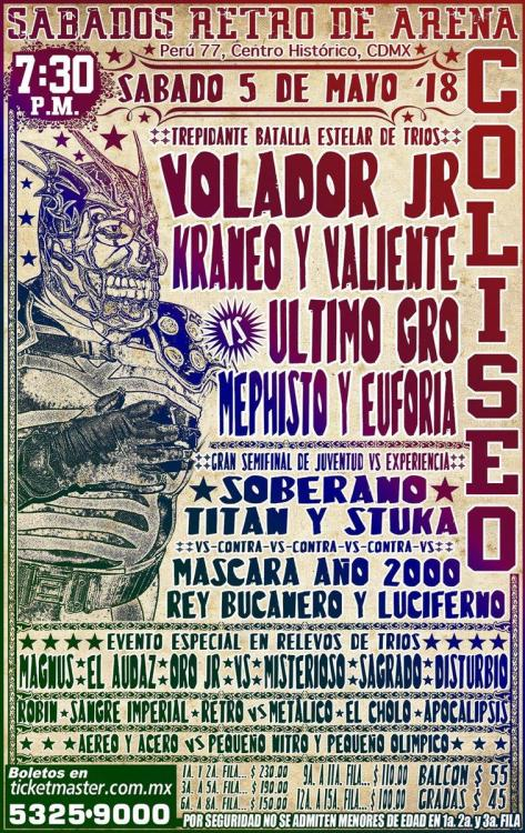 CMLL Sabados De Coliseo (May 5, 2018)