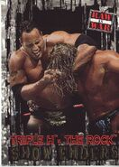 2001 WWF RAW Is War (Fleer) Triple H vs. The Rock 97