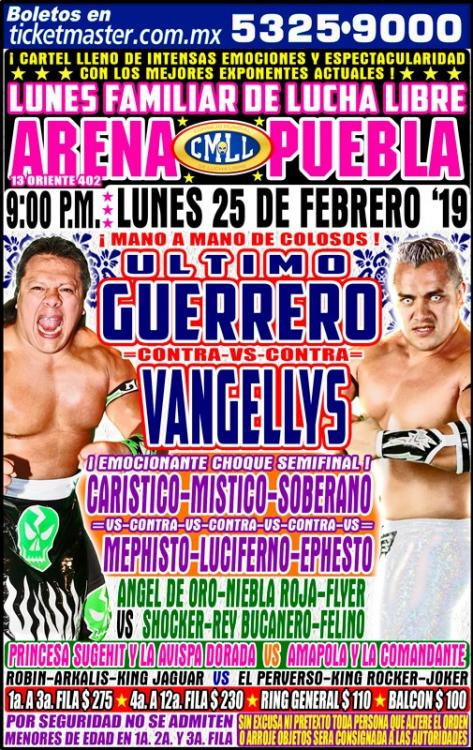 CMLL Lunes Arena Puebla (February 25, 2019)