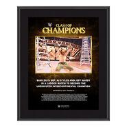 Sami Zayn Clash of Champions 2020 10 x 13 Commemorative Plaque